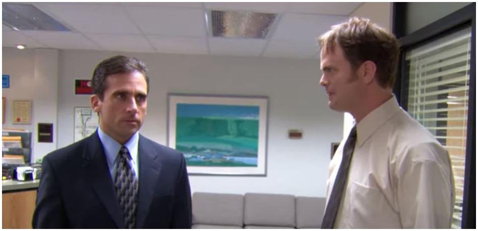 'The Office' stars Steve Carell and Rainn Wilson. (Photo by NBC/YouTube)