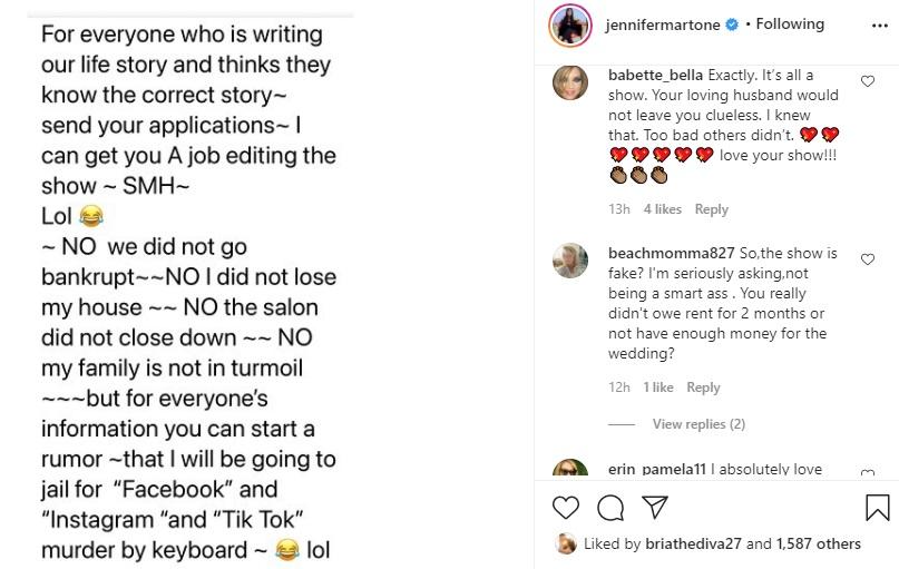 Jennifer Martone Instagram