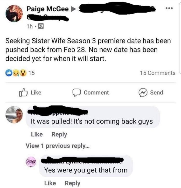 Seeking Sister Wives Facebook