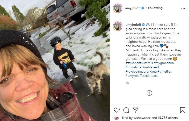 Amy Roloff Hangs With Jackson and His Scooter
