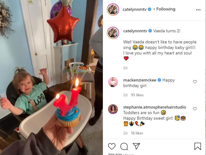 Catelynn Baltierra Instagram, Vaeda's Birthday