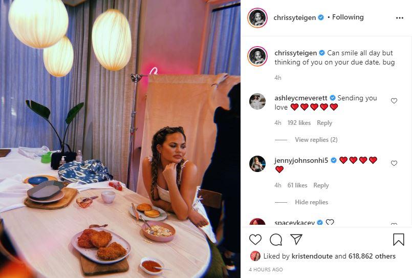 Chrissy Teigen due date post