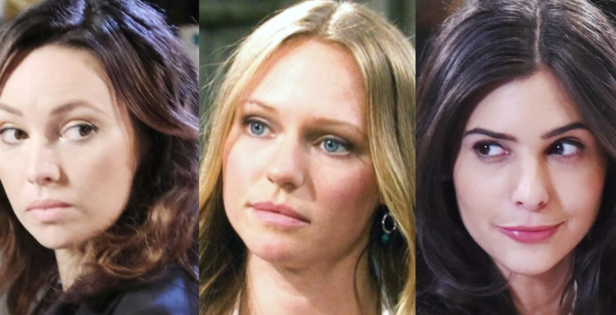 Gwen Rizczech (Emily O'Brien) - Abigail Deveraux (Marci Miller) - Gabi Hernandez (Camila Banus) / NBC