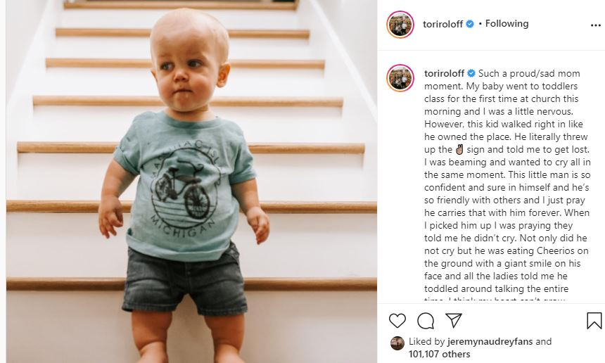 Jackson Roloff First Toddlers class