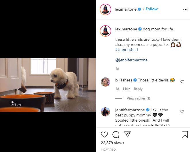 Jennifer Martone Rejects Lexi Pupcakes