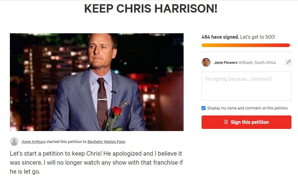 New Petition Emerges To Keep Chris Harrison On The Bachelor