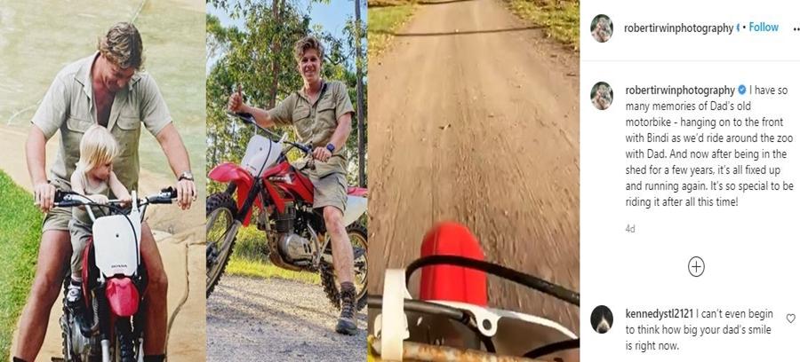 Robert Irwin Refurbishes His Dad Steves Bike
