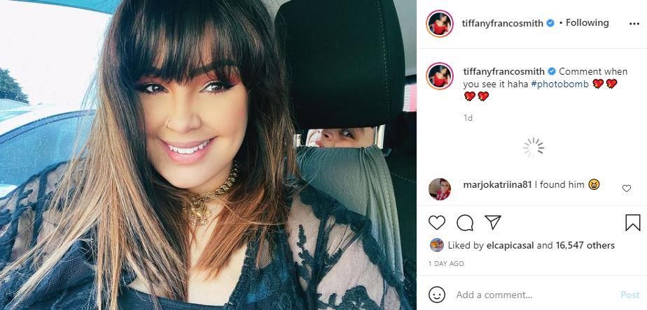 Tiffany Franco Smith Reveals Cute Photobomb