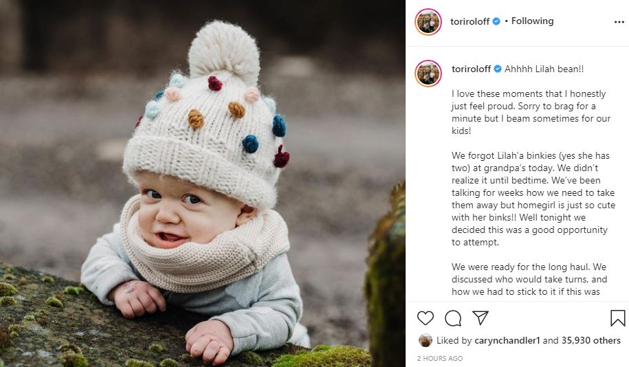 Tori Roloff Struggle With Lilah Giving Up Her Binkies