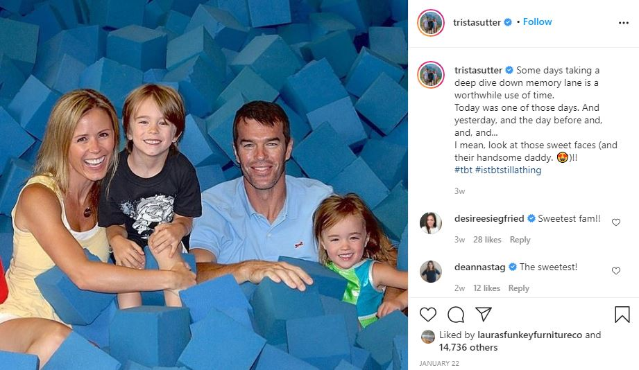 Trista Sutter, Ryan and family