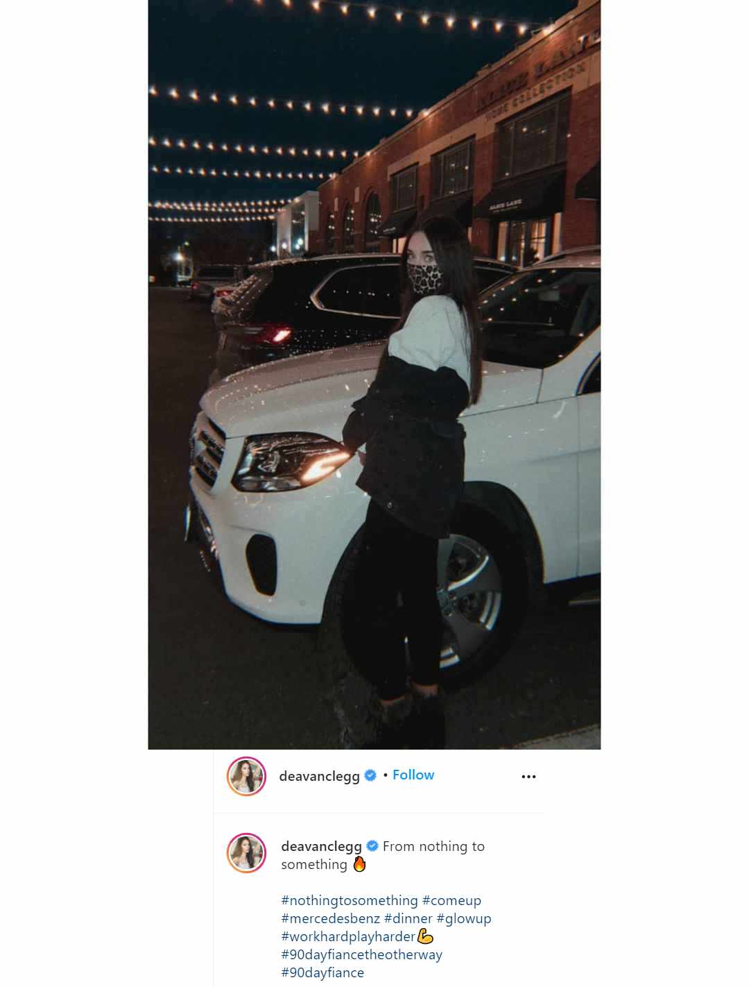 90 Day Fiance alum Deavan Clegg gets shade for posing next to a fancy Mercedes