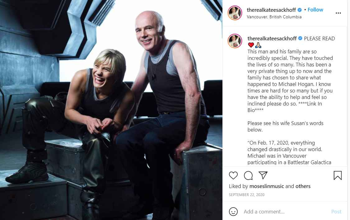 Katee Sackhoff shares good news about Battlestar Galactica castmate Michael Hogan