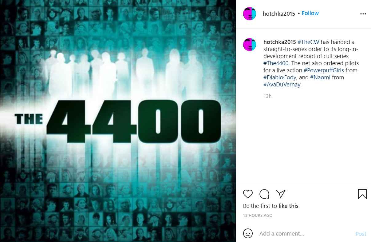 The sci-fi series The 4400 to get a reboot