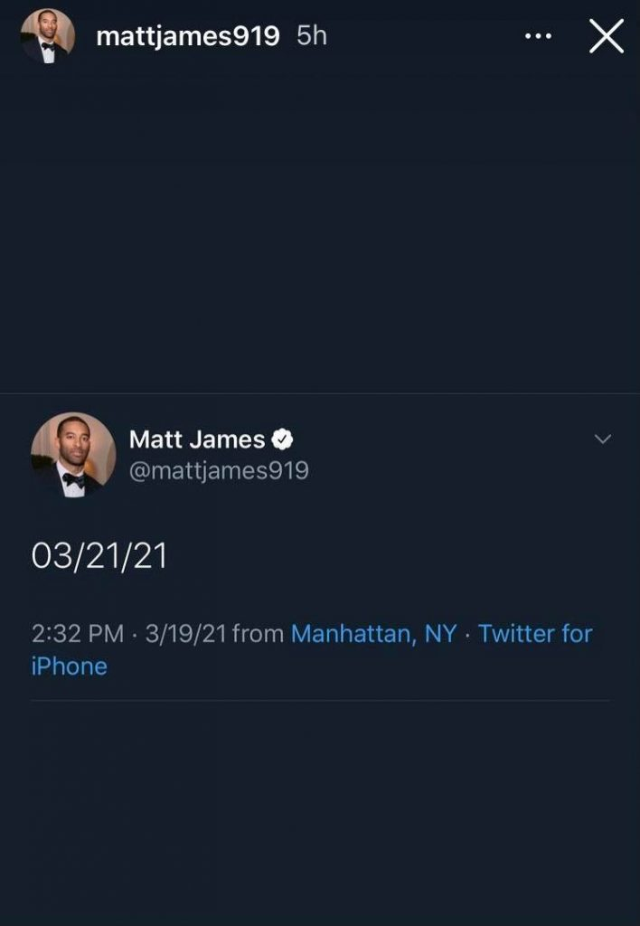 Matt James Instagram