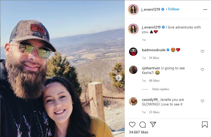 Jenelle Evans, Instagram Post Screenshot
