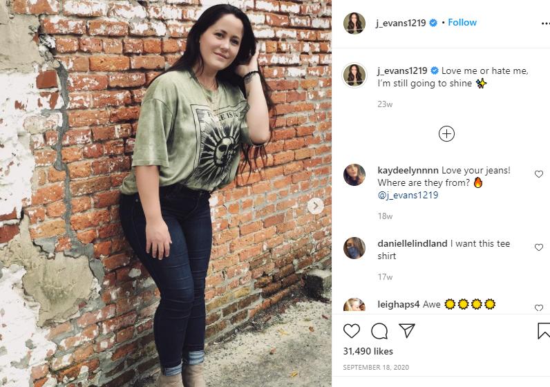 Jenelle Evans Instagram Post
