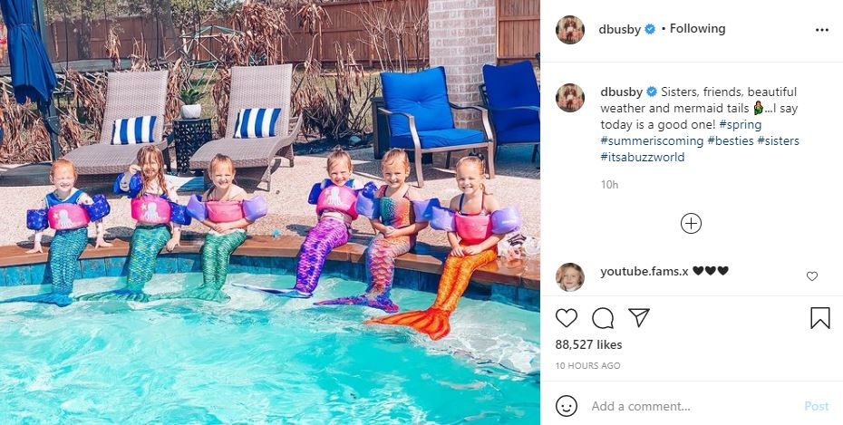 OutDaughtered Quints Mermaids Pool