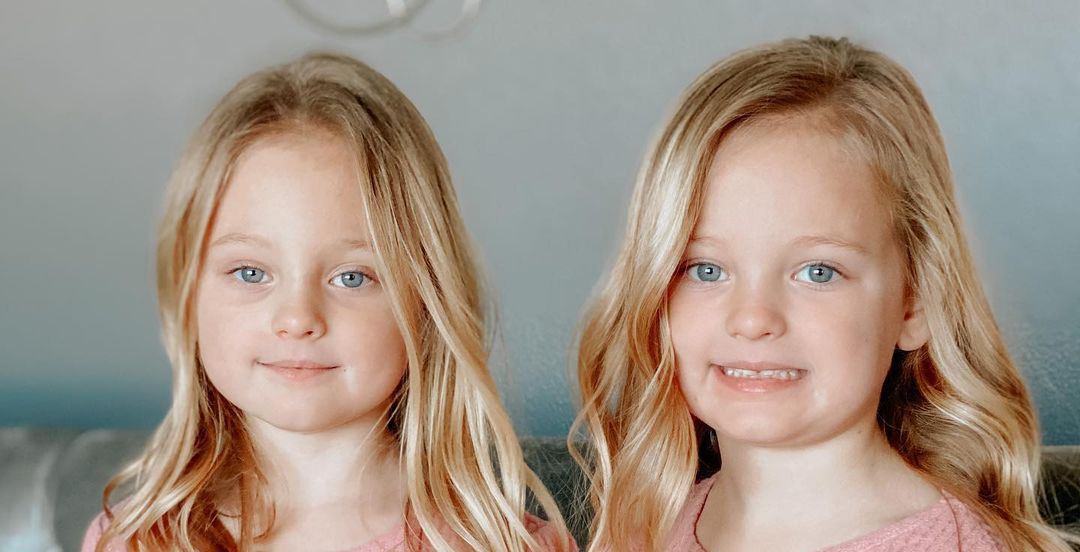 Outdaughtere Ava and Olivia Busby