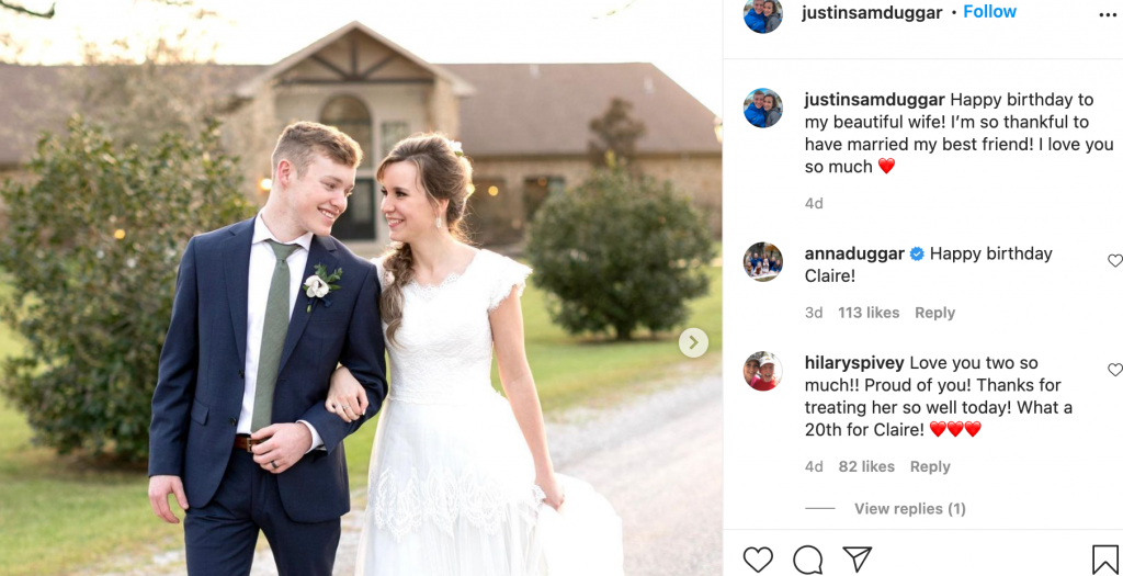See First Photos From Justin Claire Duggar S Wedding Tv Shows Ace