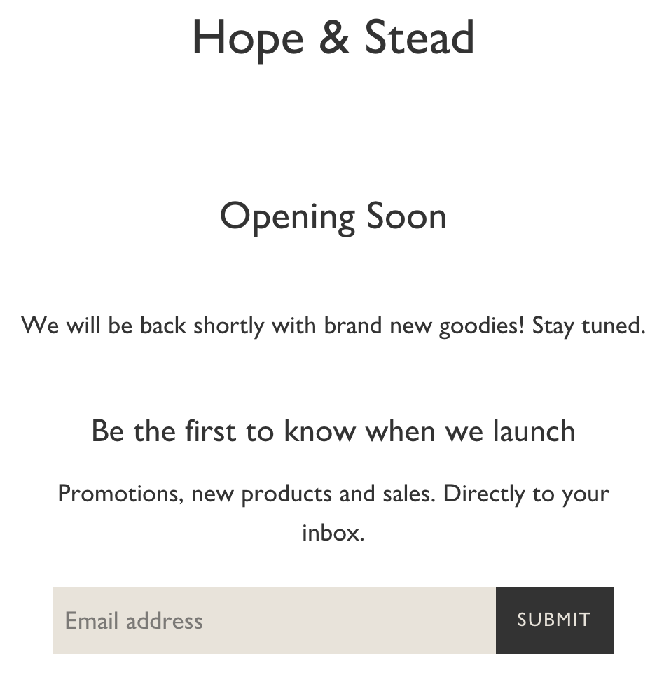 HopeandStead.com