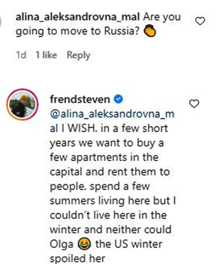 Steven Frend & Olga Relocating To Russia3