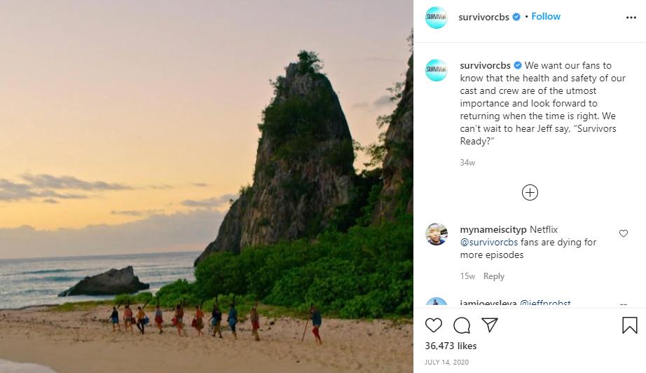 Survivor Instagram Post