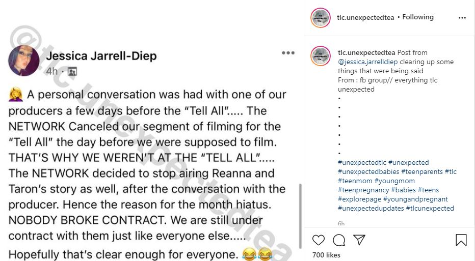 Unexpected Mom Jessica Explains Why Reanna & Taron Left TLC