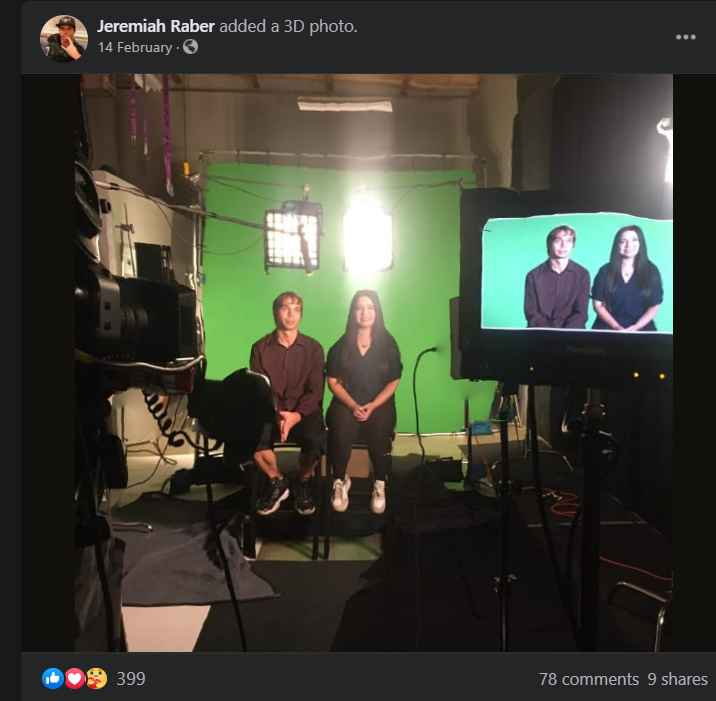 Jeremiah and Carmela filming for Return to Amish