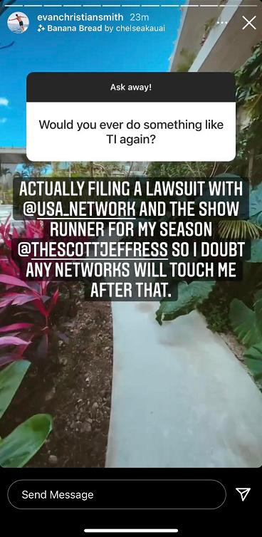 [Credit: Evan Smith/Instagram Stories]