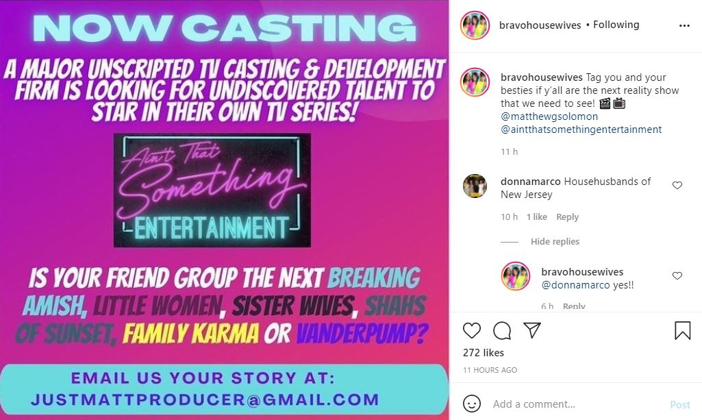 Ain't That Something Entertainment Casting For New Reality TV Shows