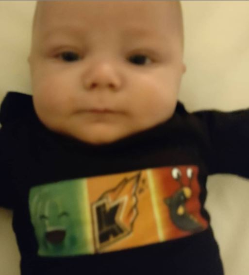 baby gage at 5 months