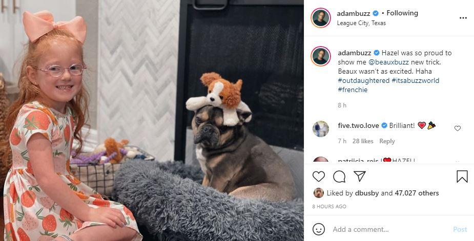Busby Dog Beaux Seems Unimpressed With Cute Hazel