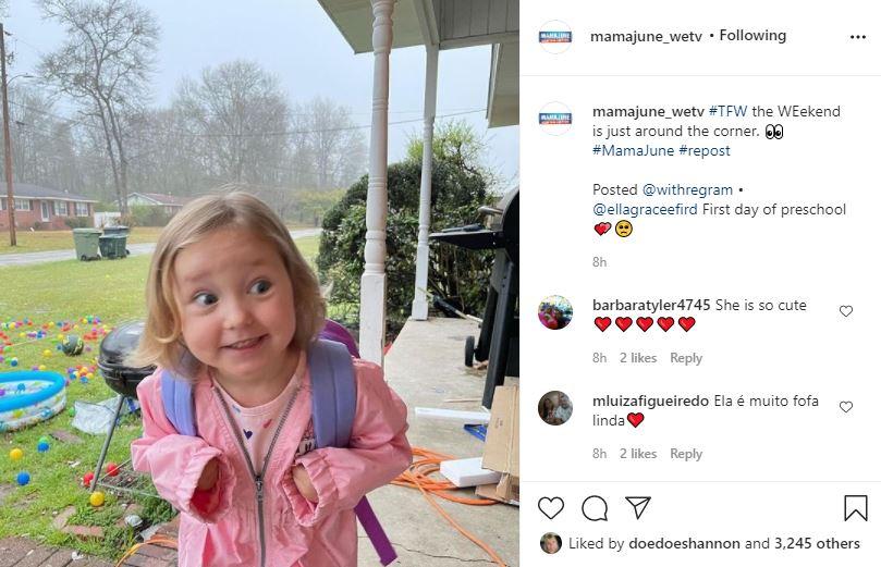 June Shannon's Grandchild Ella Grace Looks Sweet As A Peach