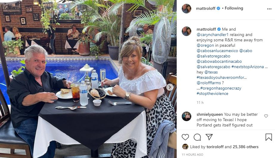 Little People's Matt Roloff And Caryn Chandler Enjoy A Vacay In Mexico