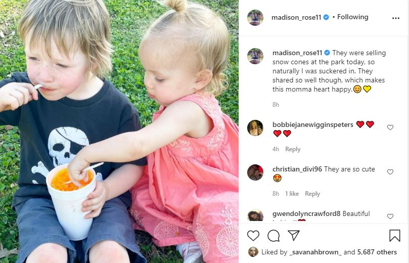 Maddie Rose Brown Can't Resist Allowing The Kids A Warm-Weather Treat