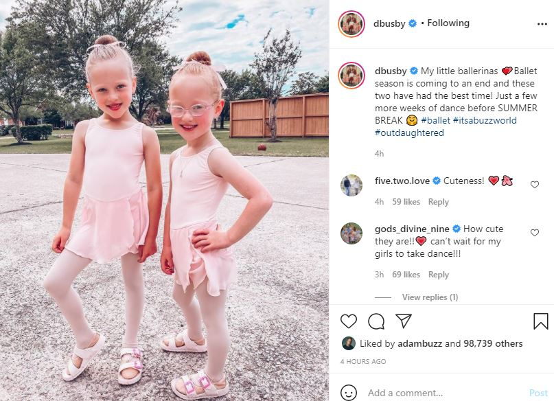 OutDaughtered Mom Danielle Puts Her Adorable Ballerinas On Display