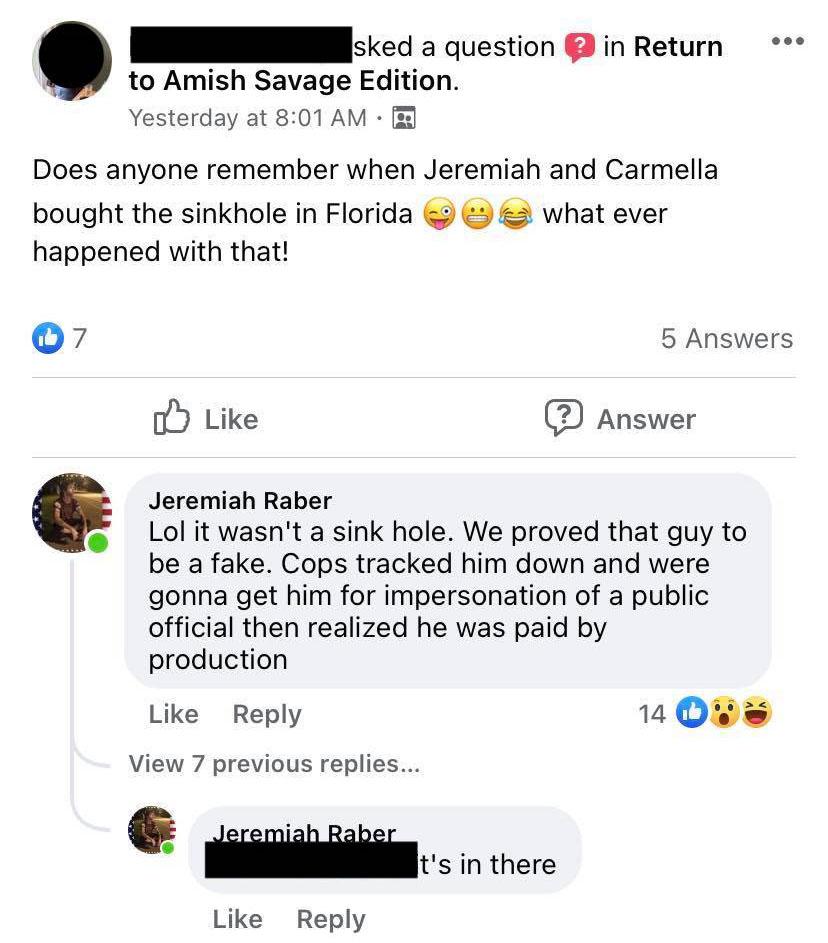 Return to Amish Breaking Amish production fake Jeremiah Raber embed