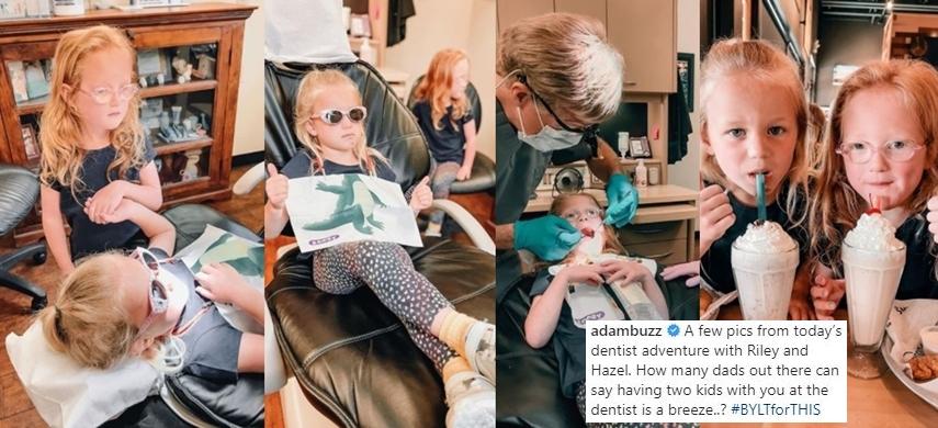 Riley & Hazel Busby Visit The Dentist, Fans Adore Sweet Hazel's Attitude