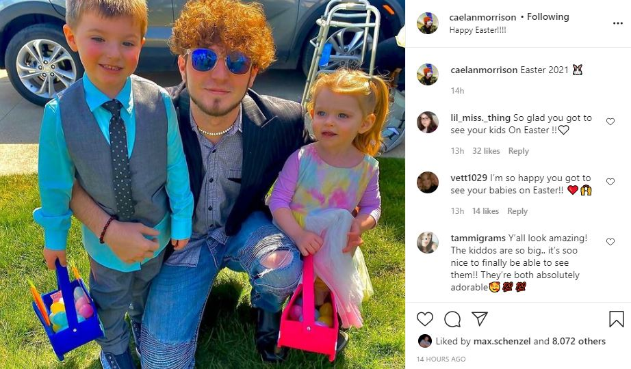Unexpected Star Caelan Morrison Enjoyed The Kids At Easter - Photo
