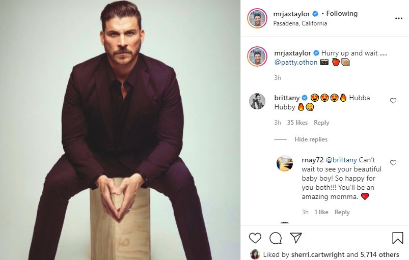 VPR Jax Taylor Makes Fans Suspect Brittany's In Labor Already