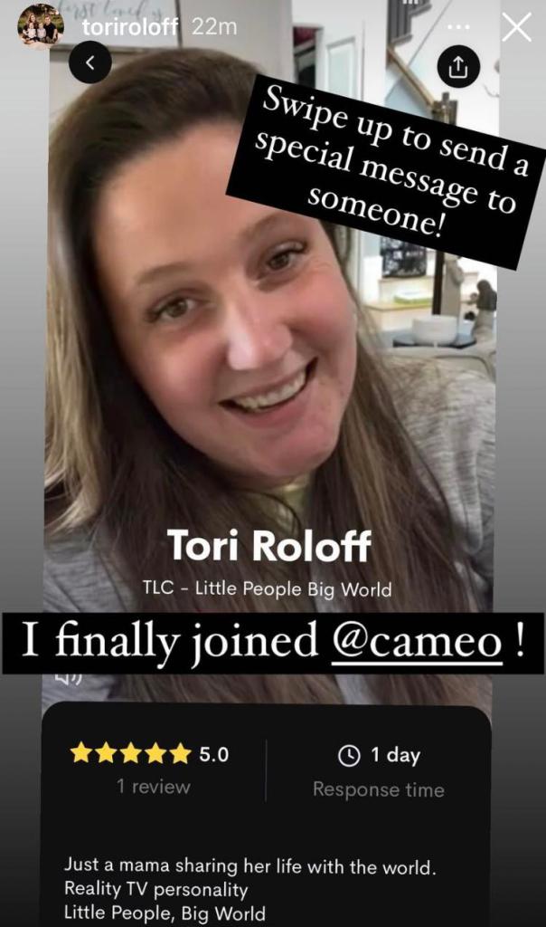 Tori Roloff Cameo