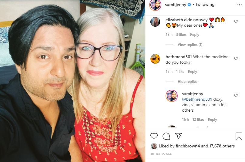 90 Day Fiance's Jenny and Sumit covid