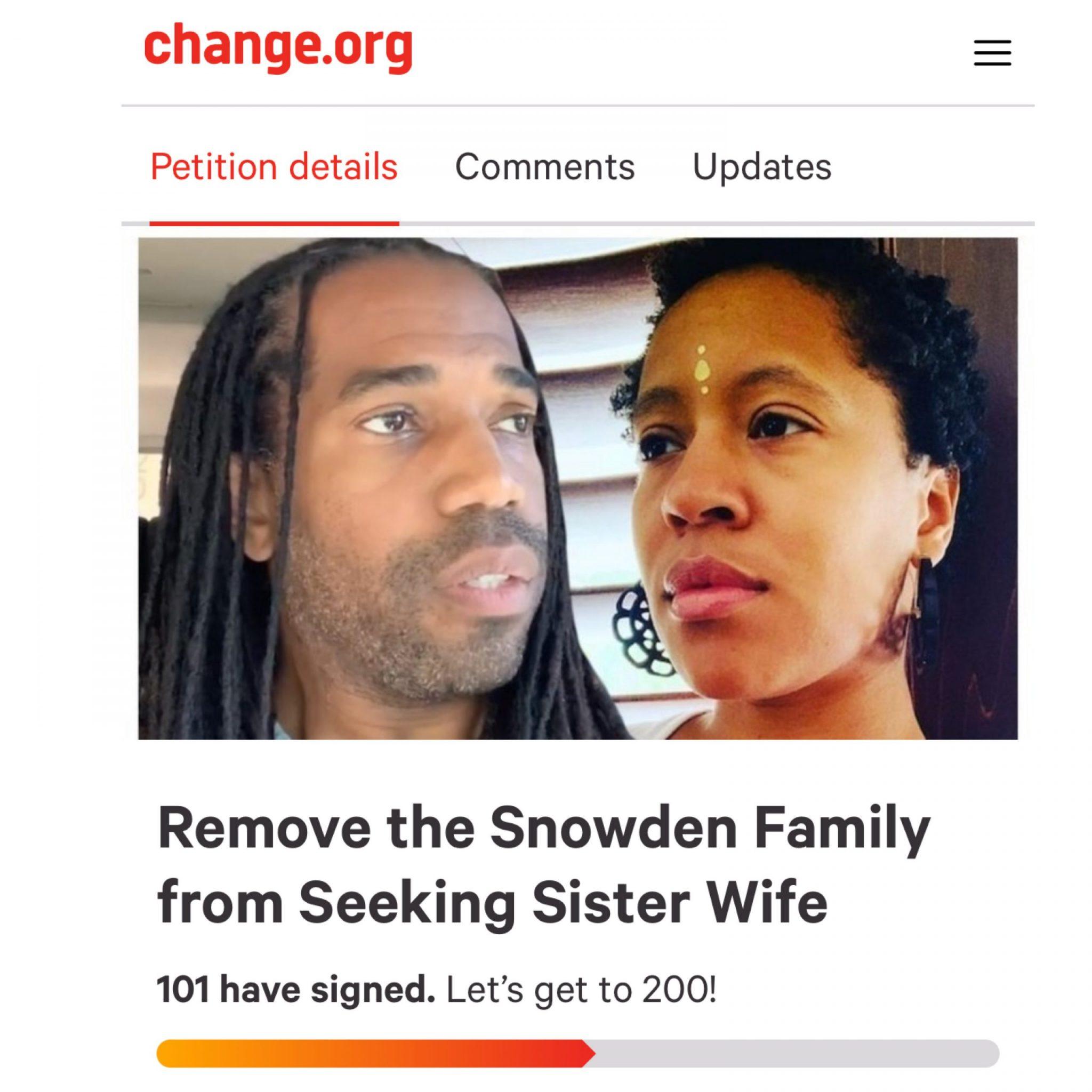 Seeking Sister Wife Credit: change.org
