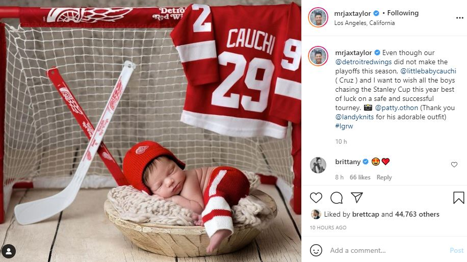 Jax Taylor Shares Adorable Detroit Red Wings Supporter, Baby Cruz
