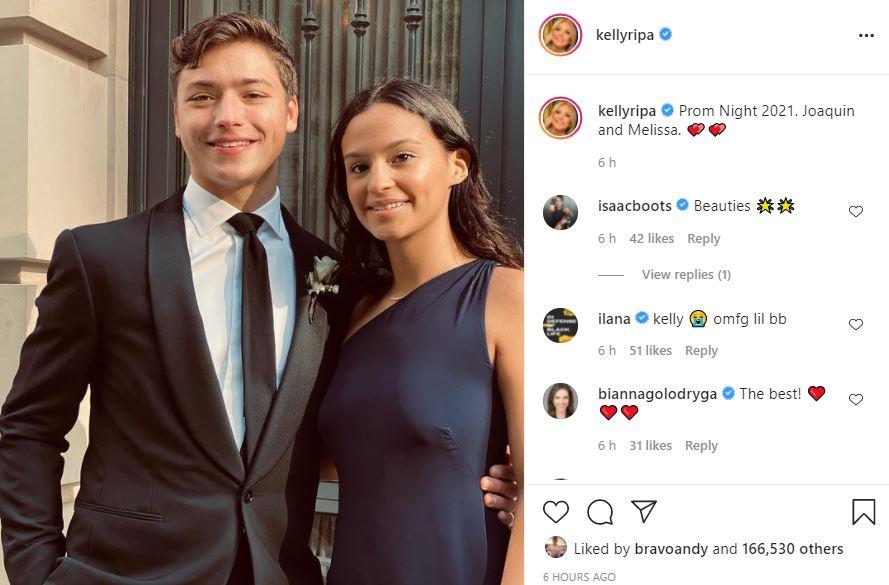 Mark Consuelos & Kelly Ripa Reveal Son Joaquin Photo On Prom Night