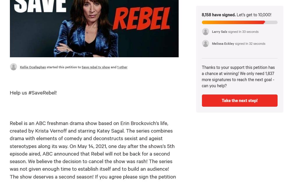 'Rebel' Petition/change.org