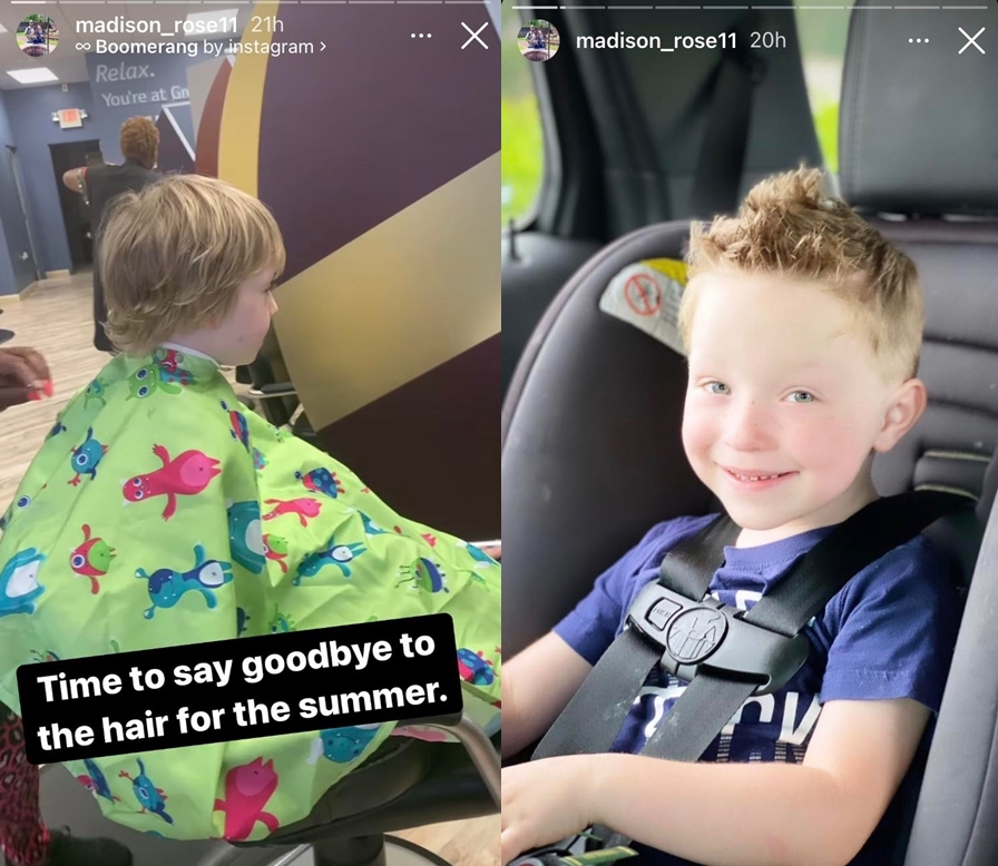 Sister Wives Maddie Brown Brush's Son Axel Gets Hair Cut See Photo