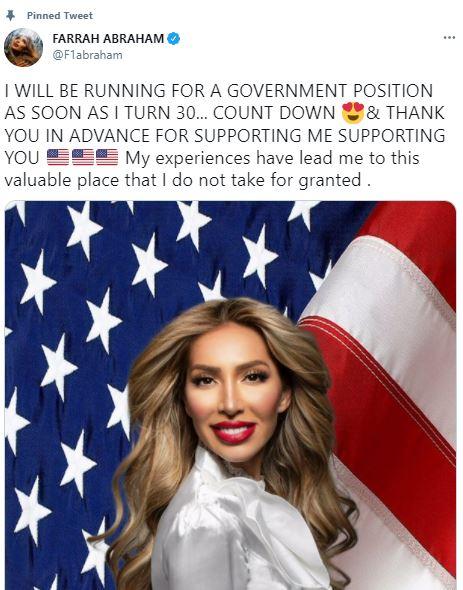 Teen Mom alum Farrah Abraham running for office