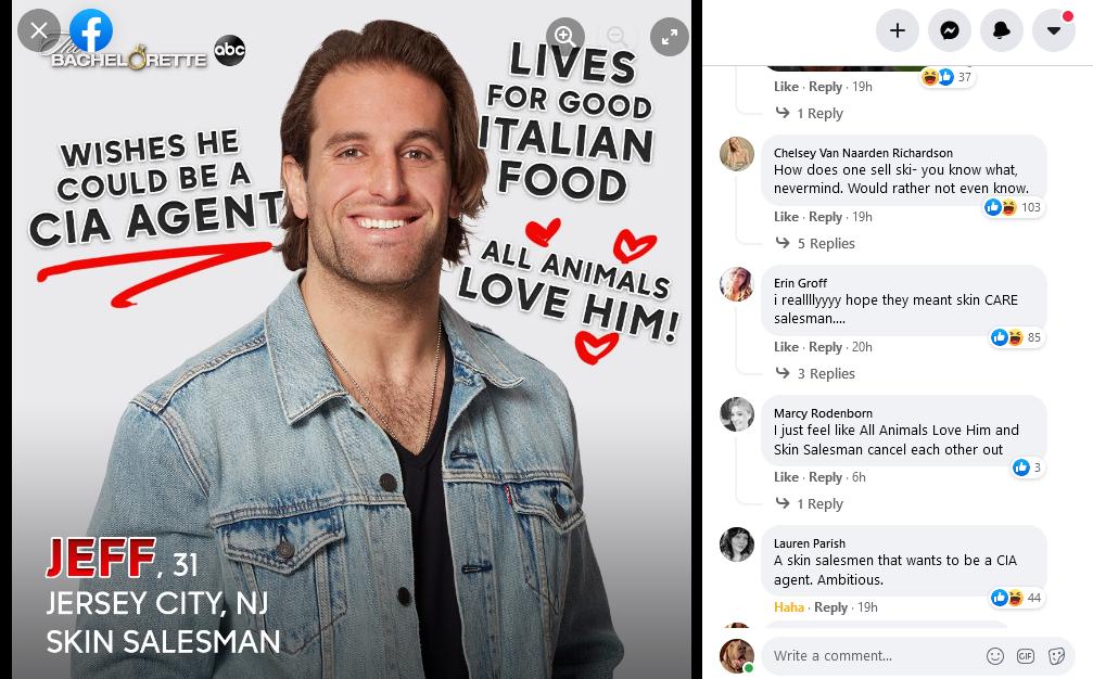 The Bachelorette/Facebook