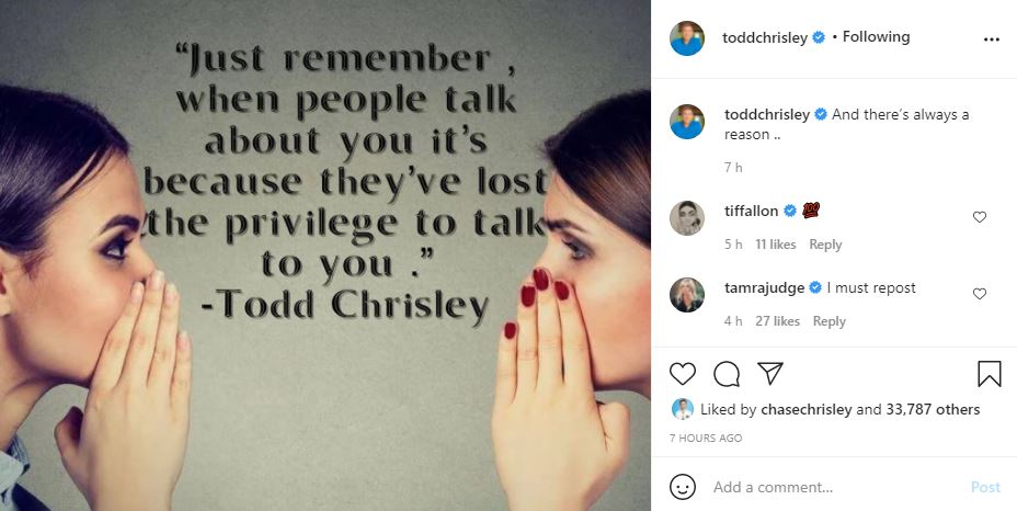 Todd Chrisley Impresses Fans With Insightful Post